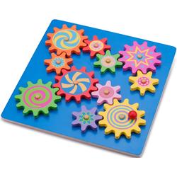 New Classic Toys Steckpuzzle Zahnradpuzzle, aus Holz bunt Kinder Holzspielzeug