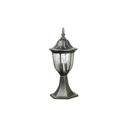 Licht-Erlebnisse Sockelleuchte MILANO Sockelleuchte außen rustikal Gold Antik Weg Garten Hof Lampe