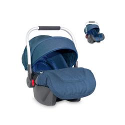 Lorelli Babyschale Babyschale Delta Gruppe 0+, (0 - 13 kg), Sonnendach faltbar, Fußabdeckung blau