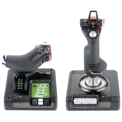 Saitek Logitech Gaming X52 Pro Flight Flugsimulator-Joystick USB Schwarz