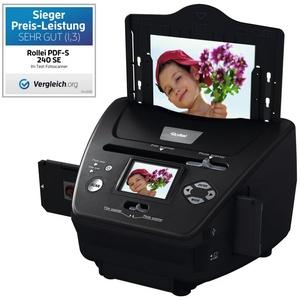 Rollei PDF-S 240 SE - Multiscanner für Fotos, Dias und Negative, sekundenschneller Scanvorgang, inkl. Bildbearbeitungssoftware - Schwarz