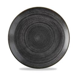 12 x Teller rund 26cm STONECAST RAW Black