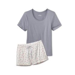 Tchibo - Shorty-Pyjama Weiß - Gr.: S