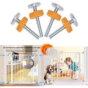 Druckschrauben für Babygitter oder Hundegitter für Treppe, Druckbefestigung, 4 Spindelschrauben