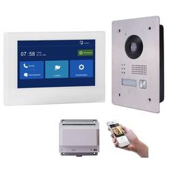 2 Draht IP Video Gegensprechanlage 7 Monitor Weiß 170 Grad HD Ohne IP Kamera