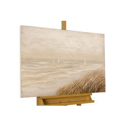 KUNSTLOFT Gemälde Sehnsucht nach Meer, handgemaltes Bild auf Leinwand