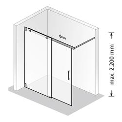 HSK Walk In K2 Version 120 Schiebetür, 2-teilig 120 × 200 cm… ohne Edelglas-Beschichtung