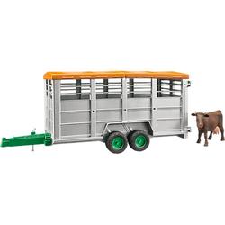 Viehtransportanhänger mit 1 Kuh