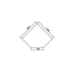 Haas+Sohn | Kamin Glasplatte, Funkenschutzplatte | Form B