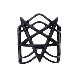 Restyle Einlage für Armschmuck Armreif Pentagramm schwarz, Pentagramm