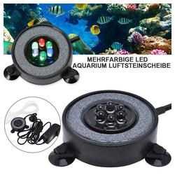 Rosnek LED Aquariumleuchte LED Aquarium Beleuchtung Mehrfarbig RGB Bubble Blase Lampe Unterwasser Licht, LED Bubble Air Stone Licht