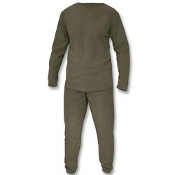 Mil-Tec Thermofleece Set m. Rundhals Shirt oliv , Größe XL