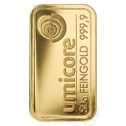 50 Gramm Goldbarren