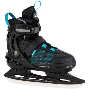 HUDORA Kinder & Jugendliche Allround Schlittschuh Comfort, Black, Gr. 29-34-Eislaufschuhe Ice Skates, schwarz, 29-34