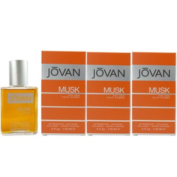 Jovan Musk for Men 3 x 118 ml After Shave Cologne Aftershave