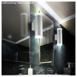 etc-shop LED Wandleuchte, 2er Set LED Wand Leuchten Up & Down Strahler Beleuchtung Spot Lampen