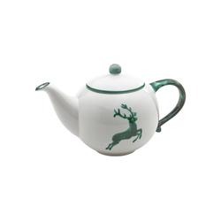 Gmundner Keramik Teekanne Teekanne Hirsch 1,5 l grau