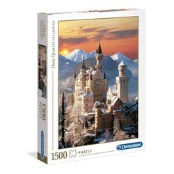 Clementoni® Puzzle Neuschwanstein im Winter 1500 Teile Puzzle, 1000 Puzzleteile bunt
