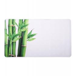 Badematte Bambus Grün 40 x 70 cm