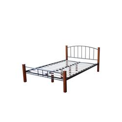 Homestyle4u Metallbett, Doppelbett 180x200 cm, mit Lattenrost