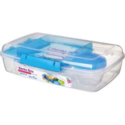 sistema Brotschale LUNCH Brotdose Bento Box, inkl. Joghurt-Dose, blau