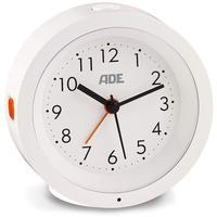 ADE Analoger Wecker mit Nachtlicht-Sensor Ø 105 x 38 mm weiß