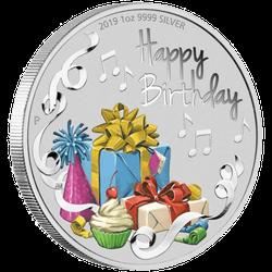 1 Unze Silber Happy Birthday 2019 Proof-Qualität