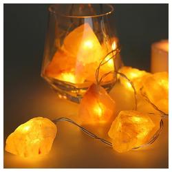 etc-shop LED-Lichterkette, LED Lichterkette 0,6 Watt Timer 6h ON/18h OFF Abstand 15cm Salzkristall