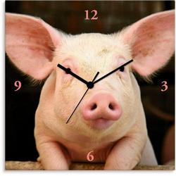 Artland Wanduhr Vorwitziges Schwein