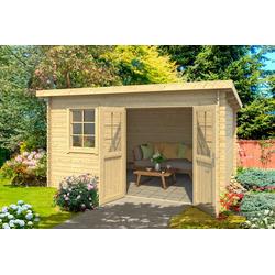 Outdoor Life Products Gartenhaus Niendorf 2, BxT: 432x339 cm beige