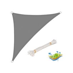Woltu Sonnensegel, Sonnensegel Windschutz dreieck grau 500 cm x 700 cm x 700 cm