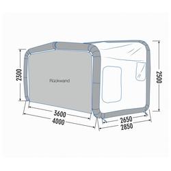 Gentletent Luftzelt GT Home Van, 400 × 285 × 250 cm