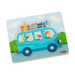 Haba Puzzle Holzpuzzle Fahrspaß, 4 Puzzleteile