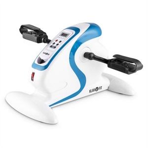 KLARFIT Fahrradtrainer Cycloony MiniBike Bewegungstrainer Motor 120kg Fernbedienung weiß/blau