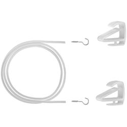 Seilspanngarnitur Gardinenspannseil Klemmfix, LICHTBLICK