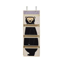 3 Sprouts Aufbewahrungsbox Wandaufbewahrung Bär, 94 x 33 cm schwarz