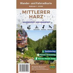 Mittlerer Harz Wander- und Fahrradkarte 1 : 30 000