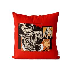 Kissenbezug, VOID (1 Stück), Comic Rennsport Pop Art Kissenbezug Comic Rennsport Pop Art Pop Art Superheld H 60 cm x 60 cm