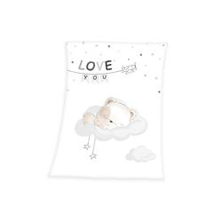 Babydecke Kleiner Bär - Soft Peach Decke von Herding, 75x100 cm, Baby Best, 100% Polyester