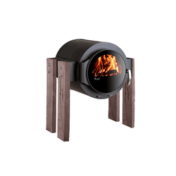 KANUK | Kaminofen Kanuk® - STAND | Wood - Eiche Rustikal | 8 kW