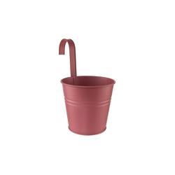 BUTLERS Blumentopf ZINC Hängetopf Höhe 15cm rot