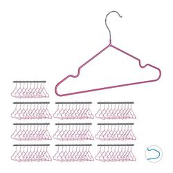 100 x Kinderkleiderbügel Kinderbügel Drahtbügel Kleiderbügel Babybügel Metall pink