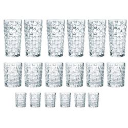 Nachtmann Gläser-Set Bossa Nova (18-tlg), Kristallglas