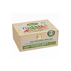 Saatgut-Holzbox Tomaten  7 BIO-Saatgut-Sorten