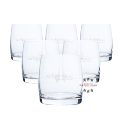 6 x mySpirits Gin und Whisky Tumbler Glas