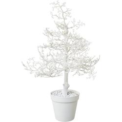 Kunstbaum Hainbuche, Höhe 44 cm, mit Glitter weiß