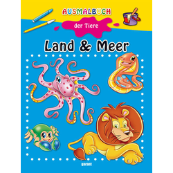 Ausmalbuch der Tiere - Land & Meer: Buch von