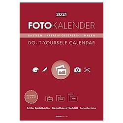 Foto-Bastelkalender rot 2021 - Kalender
