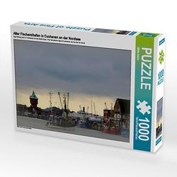 Alter Fischereihafen in Cuxhaven an der Nordsee Lege-Größe 64 x 48 cm Foto-Puzzle Bild von Fotokunst Ulrike Adam Puzzle