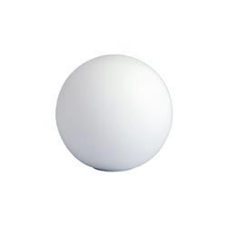 Wofi Tischleuchte Glaskugel in weiß, 25 cm